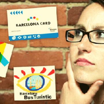 Woman deciding what Barcelona city pass to buy