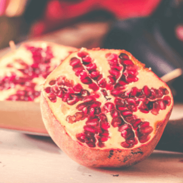 Pomegranates, a delicious winter fruit in Spain