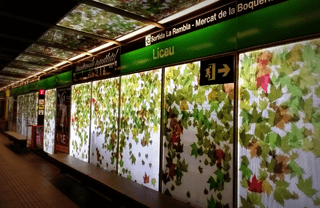 Station of the Metro in Barcelona