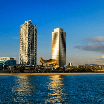 View of the Hotel Arts Barcelona | ForeverBarcelona