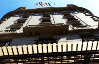 El Palace Hotel: building