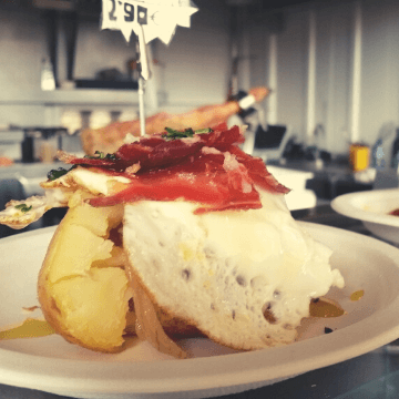 Spanish tapas dishes on the counter of a Barcelona bar | ForeverBarcelona