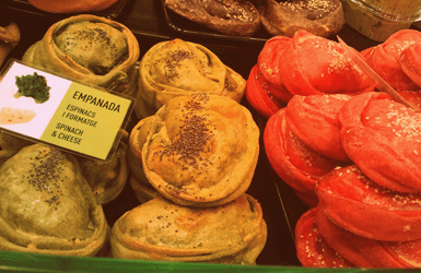 Fast food restaurants in Barcelona: at the Boqueria Market