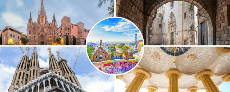 Images of our Park Guell Sagrada Familia Gothic Quarter tour