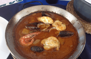Spanish fish soup