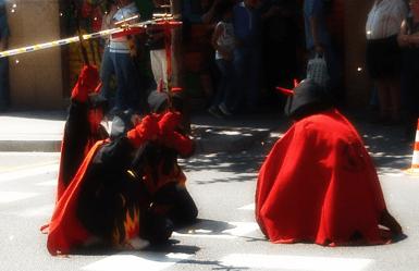Children Correfoc in Barcelona