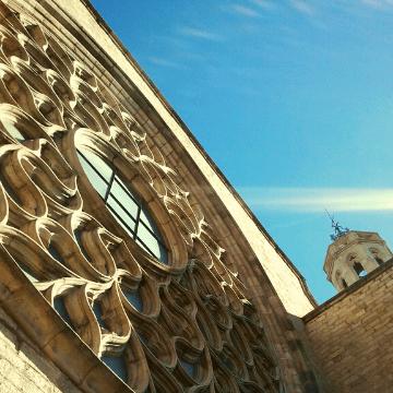Santa Maria del Mar church in El Born (Barcelona, Spain)