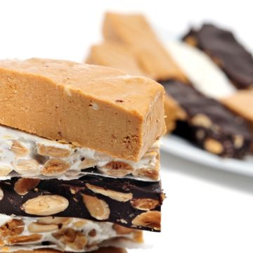 Serving of Turron Nougat from Spain