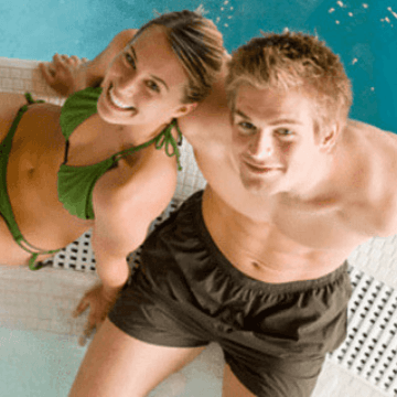 Couple in a Barcelona hotel with jacuzzi in room   ForeverBarcelona