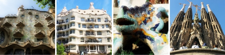 Gaudi sites visited during a Barcelona private minibus hire