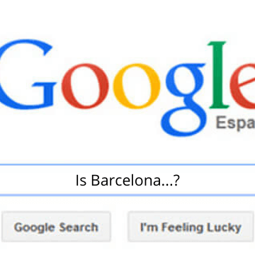 """Google screen with the question """"Is Barcelona...?"""""""