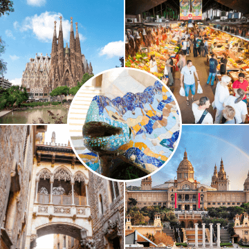 Moments of our 2 days in Barcelona tour