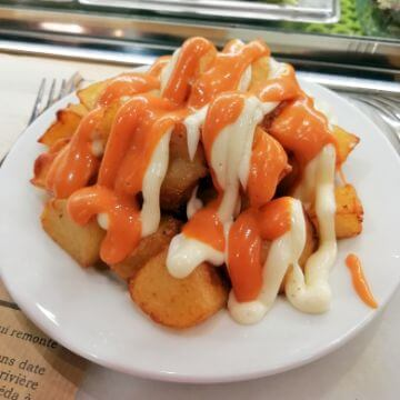 Dish of Patatas Bravas in Barcelona