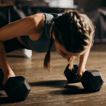 Woman training in Barcelona hotels with gym