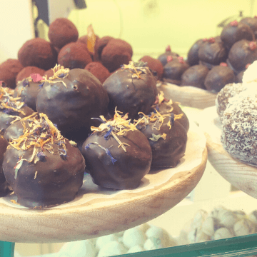 Chocolate in Barcelona in a window shop