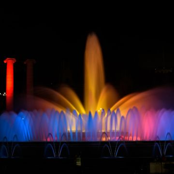 The magic fountain show, one of the Top Barcelona night activities