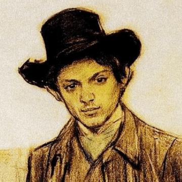 Young Pablo Picasso portrait