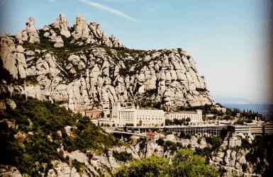 Cliffside monasteries near Barcelona: Montserrat