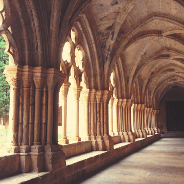 cloisters of one of the Best monasteries in the Barcelona area   ForeverBarcelona
