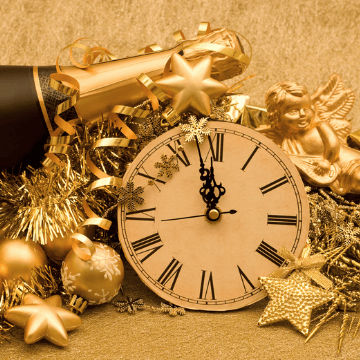 Golden Count Down Clock for New Year Eve in Barcelona Spain