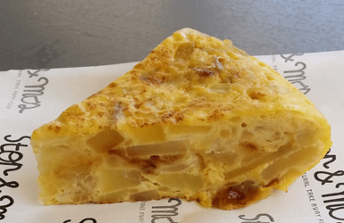 Spanish style eggs: tortilla