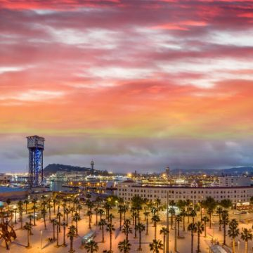 Barcelona in the sunset, a trip you want to save for