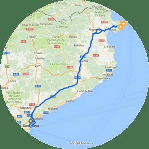 Cadaques Tour Map
