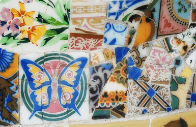 Things to do with children in barcelona: Mosaic workshop