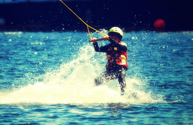 Water Skiing in Barcelona