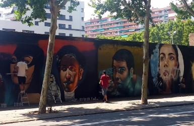 Barcelona Poblenou: graffiti