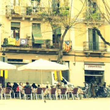 One of the Squares of Gracia district