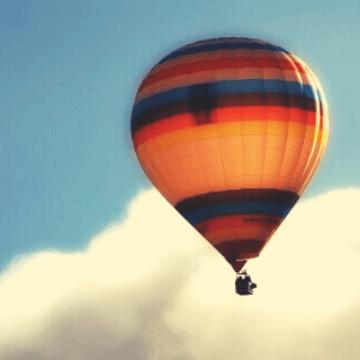 Hot Air Balloon over Barcelona