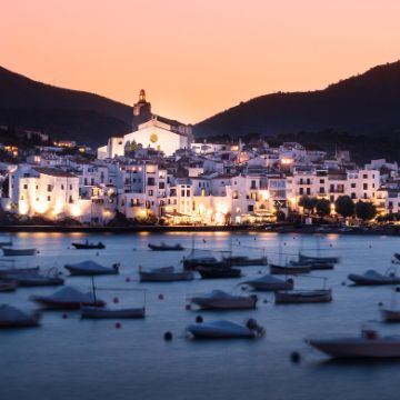 View of Cadaques by night