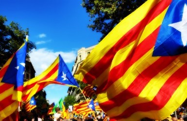 Demonstrations during the National Day of Catalonia