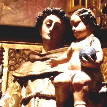 Protective Barcelona Cathedral saints