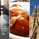 Photo grid with things to do in one day Barcelona Spain