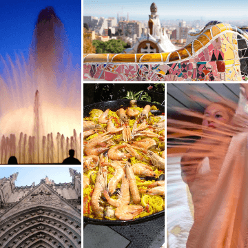 Grid for a Barcelona in 48 hours itinerary