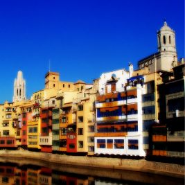 Old Girona from the riverside