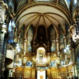 Interior of the Basilica of Montserrat