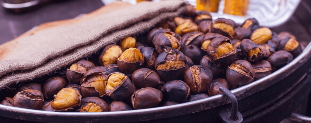 Roasted chestnuts for All Saints