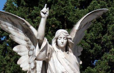 Angel at a Cemetery during Todos Los Santos