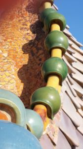 Detail of Casa Batllo rooftop