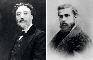 Antoni Gaudi and Hector Guimard portraits