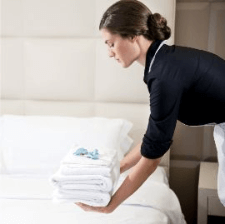Hotel Maid At Work