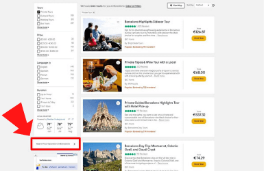 Tripadvisor link to operators ratings