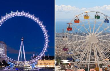 Ferris wheel in Barcelona or London, which is better