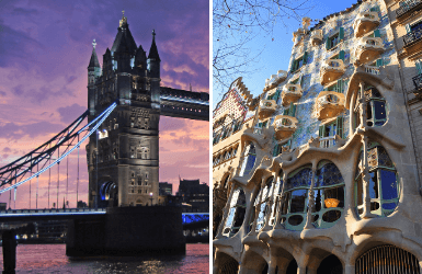 London or Barcelona to visit: history or architecture