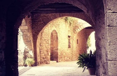 medieval villages catalonia: Monells