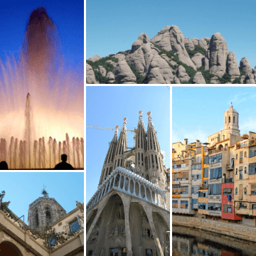 Itinerary for Barcelona in five days photo grid