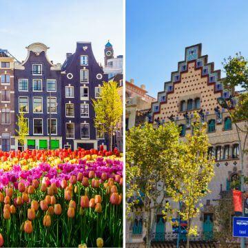 Amsterdam Barcelona comparison